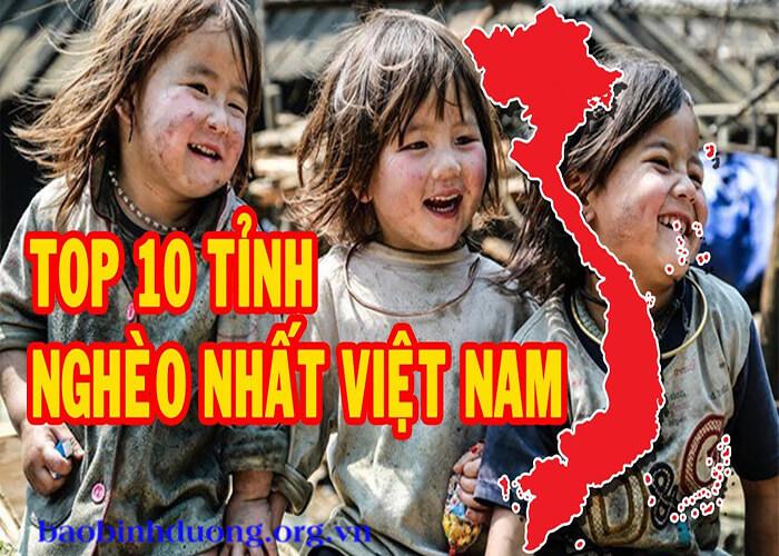 Top 10 tỉnh nghèo
