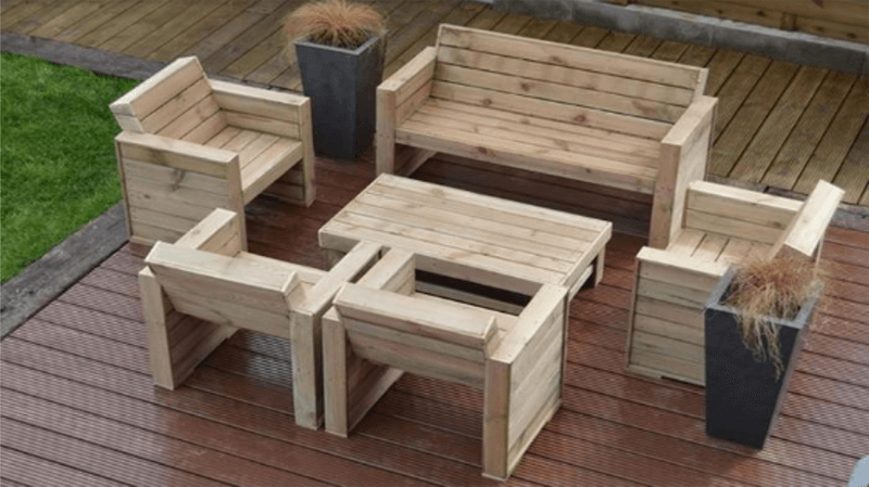 Bộ bàn ghế gỗ pallet