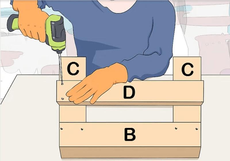 Lắp ráp chân ghế