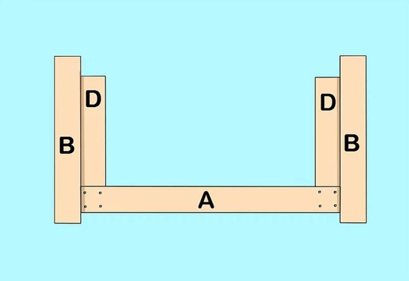 Lắp ráp ghế gỗ pallet