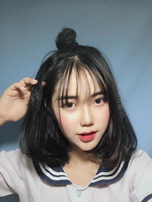Lựa chọn kiểu tóc ngang vai đẹp, mốt cho quý em lứa tuổi sinh viên